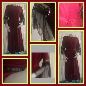 SHEIN Red Maxi Dress Medium NWOT
